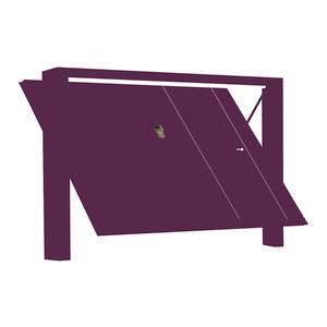 PORTE IN LEGNO OKOUME' Modello Lisca di Pesce + Montanti Rivestiti + Portina Vista Esterna DX Tirare SX + Predisposizione