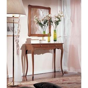 Consol Mobile entrata + Specchio in legno colore noce, Spedizione gratis