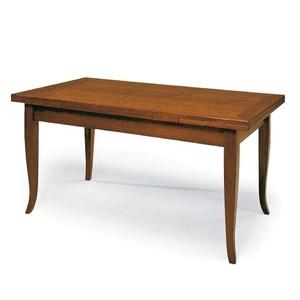 Tavolo in legno, 100x70 aperto 180x70, colore noce arte povera, Spedizione Gratis