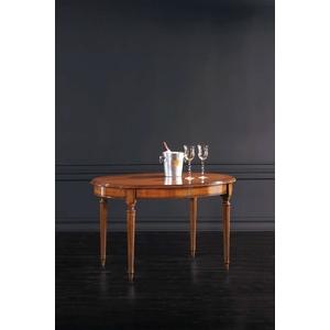Tavolo ovale  IMPERO 130X95 con 2 allungamento da 40 cm, Freeshipping