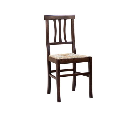 sedia mod. vicenza in legno, noce arte povera, fondo paglia ... - Mobili Arte Povera Vicenza