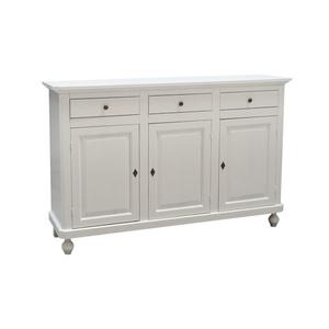 Credenza in legno, 150x45x98  h , colore bianco