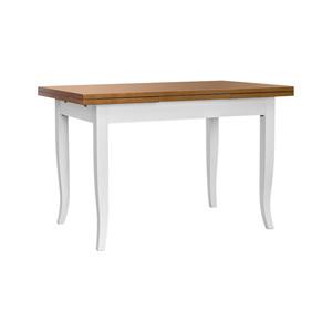 Tavolo in legno, 100*70 - aperto 180*70, piano ciliegio, struttura bianco, Spedizione Gratis offertissima