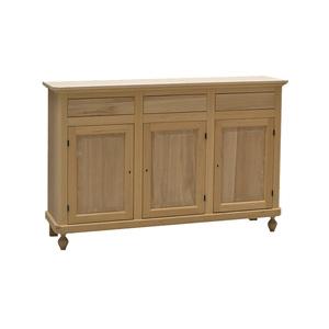 Credenza 3 porte in legno, napoletana, 150x45x98 h, in legno naturale grezzo!