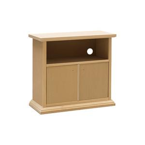 Porta tv in legno grezzo essenza naturale, 86x40x80 h