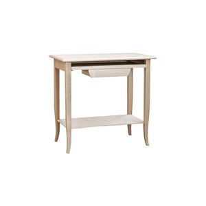 scrivania scrittoio porta pc, in legno grezzo, essenza naturale, 85x50x78 h
