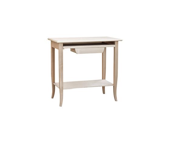 scrivania scrittoio porta pc, in legno grezzo, essenza naturale ...