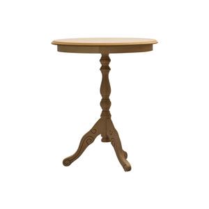 Tavolino rotondo in legno, grezzo essenza naturale, diam 50 cm , altezza 60 cm