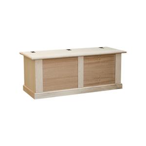 Cassapanca baule arte povera, 120x42x50 h, in legno grezzo essenza naturale