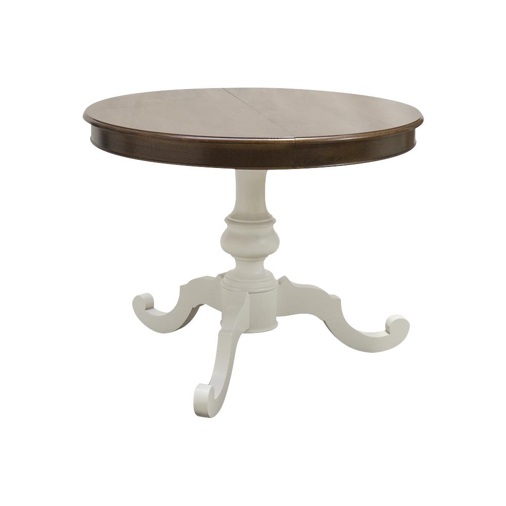 Tavolo rotondo in legno, diametro 100 - 120 allungabile, colore ...