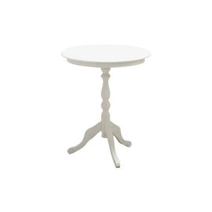 Tavolino rotondo in legno, bianco, diam 50 cm , altezza 60 cm
