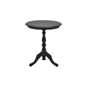 Tavolino rotondo in legno, colore nero opaco, diam 50 cm , altezza 60 cm