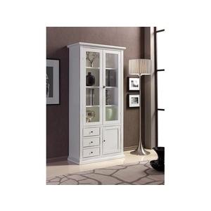 Vetrina in legno, 90x40x185 h, colore bianco , offertissima Freeshipping