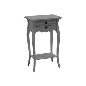 Comodino Francesino in legno, Laccato grigio opaco, 45*35*70 h