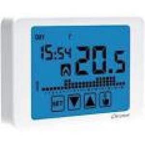 Ccronotermostato elettronico touch screen da parete bianco