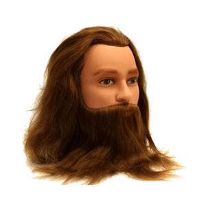 Testina Barba e Baffi capelli veri Sinelco