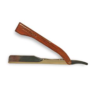Focus - Razor rasoio in acciaio effetto legno