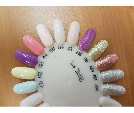 Smalto gel Midi La Jolie Collezioni Pastel e Glitter 7 ml