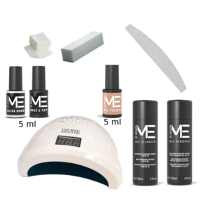 Kit smalto gel semipermanente Mesauda con lampada UV/LED Jvonne professionale