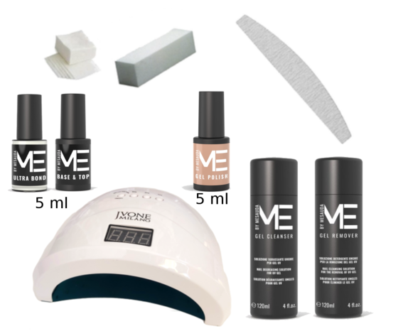 Kit smalto gel semipermanente Mesauda con lampada UV/LED Jvonne professionale