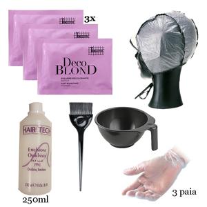 Kit per mèches - kit per effettuare la decolorazione dei capelli con cuffia