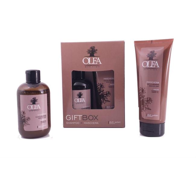 Gift Box Shampoo e Maschera Olio di Baobab e Semi di Lino Olea Dottor Solari