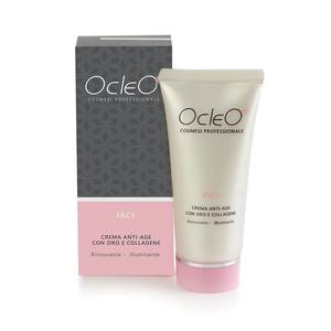 Ocleò Crema Anti-Age con oro e Collagene Rinnovante Illuminante 50 ml
