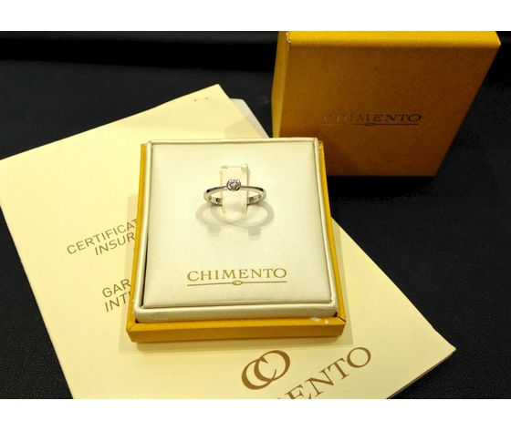 Anello Solitario CHIMENTO Oro Bianco e Diamante