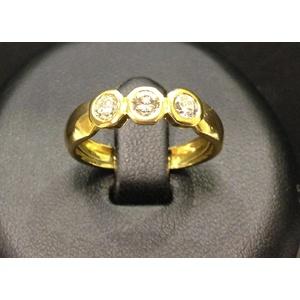 Anello Trilogy Oro Giallo e Diamanti