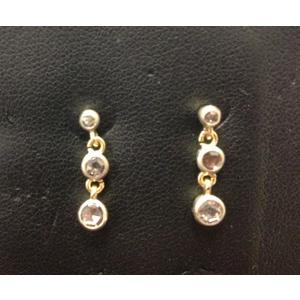 Orecchini Vintage Oro Giallo e Diamanti