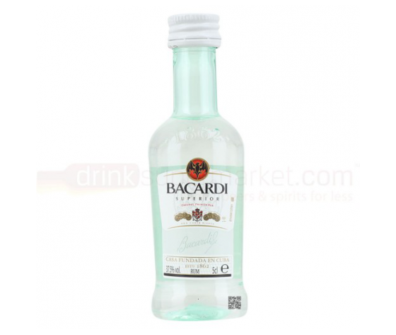 Rum Bacardi Bianco Superior Carta Blanca 37,5° cl.5