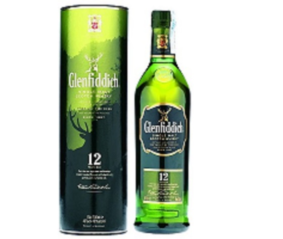 Whisky Glenfiddich 12 y 40°  LITRO
