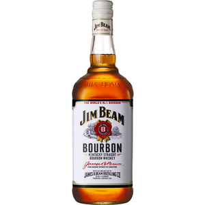 Jim Beam bourbon white label  litro