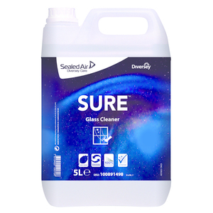 SURE GLASS CLEANER - DETERGENTE PRONTO ALL'USO PER LA PULIZIA DI VETRI E SPECCHI 5LT