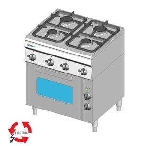 Cucina a gas 4 fuochi con forno elettrico ventilato-PF70 G/6