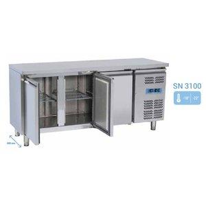Tavolo refrigerato 3 porte Temp. -18° -22° C