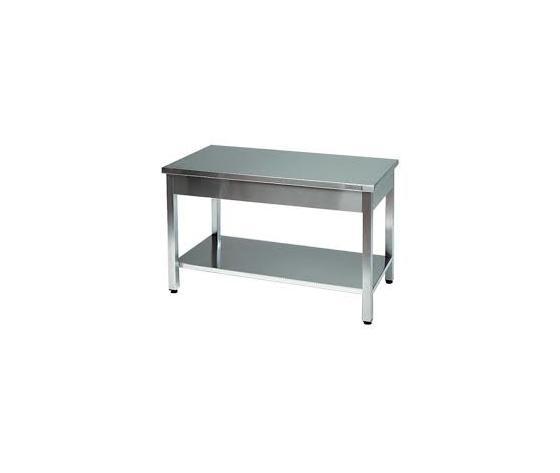 Tavolo da lavoro inox dimensioni cm 200x70x85