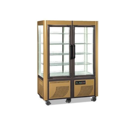 Vetrina espositore refrigerato panoramico 2 porte in vetro for Vetrina in vetro