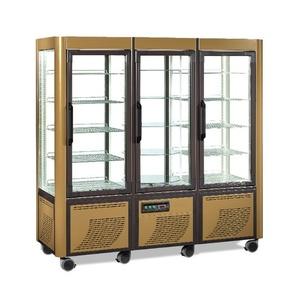 Vetrina Espositore refrigerato panoramico 3 porte in vetro Temp. +2° +10° C