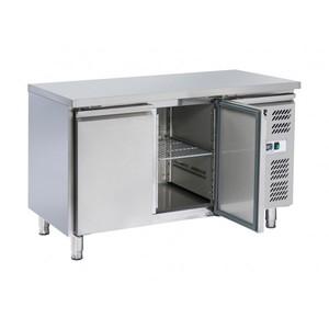 Tavolo refrigerato inox 2 porte 136x70x86