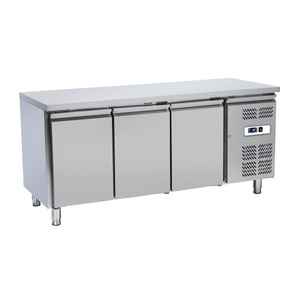 Tavolo refrigerato inox 3 porte 180x70x86