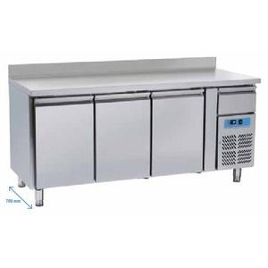 Tavolo refrigerato inox 3 porte+alzatina+cassetto neutro