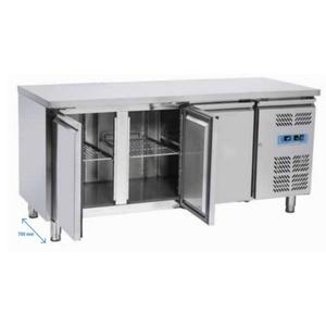 Tavolo freezer inox 3 porte 180x70x86
