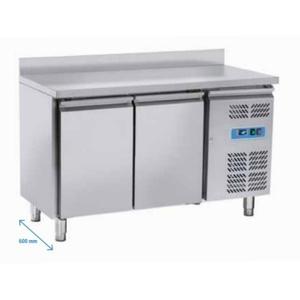 Tavolo freezer 2 porte con alzatina posteriore