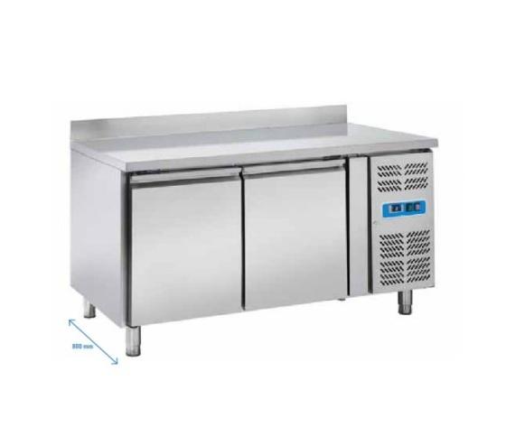 Tavolo refrigerato pasticceria 2 porte+alzatina posteriore