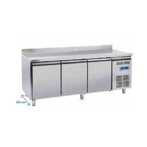 Tavolo refrigerato pasticceria inox 3 porte+alzatina posteriore