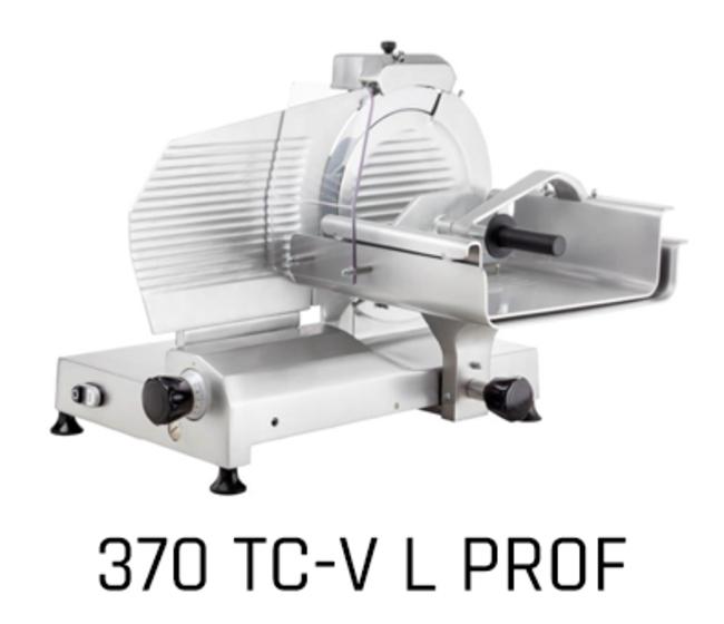 Affettatrice verticale per carni lama diametro cm 37 f370-tcv-l