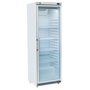 Armadio frigorifero bianco 400 l. porta in vetro interno in ABS
