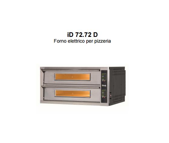 Forno elettrico Moretti 2 camere 72x72x14h cm