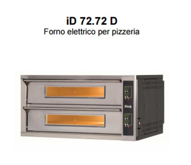 Forno elettrico Moretti 2 camere 72x72x14h cm-iD-D 72.72
